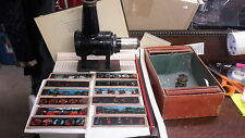 VINTAGE MAGIC LANTERN WITH 24 GLASS SLIDES