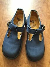Vintage Dr. Martens Blue Suede T-Strap Mary Janes Oxfords Size UK 5/US 7