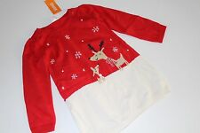 Gymboree Holiday Shop Girls Size 4T Sweater Dress Snowflake Reindeer NWT