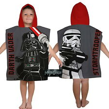 LEGO STAR WARS VILLAINS HOODED PONCHO TOWEL - CHILDRENS BEACH TOWEL 100% COTTON