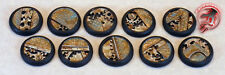 Figure Painters Bases (10) 30mm Plate and Gear bases,Round lip, Warmachine