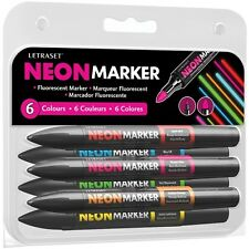 Letraset Neon Markers Set 1 Pack of 6