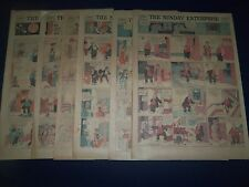 1923-1931 THE SUNDAY ENTERPRISE COLOR COMIC LOT OF 44 - BEAUMONT TEXAS - CS 25