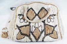 SCARCE VINTAGE 50s-60's FANCY BELGIUM HAND MADE BEADED PURSE BEAUTIFUL  UNIQUE