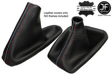 BLACK STITCH CARBON LOOK GEAR HANDBRAKE GAITER FOR BMW  E36 E46 91-05 M STITCH