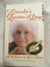 Lincoln's Doctor's Dog, Book Signed by Grace Marshall Brown Spencer County IN