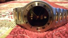 CROTON EQUATOR// 18K SOLID YELLOW GOLD & STAINLESS STEEL// Men's Watch// RARE!!!
