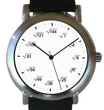 """Mathematics Dial"" -  Theme Watch Shows A Square Root Equation At Each Hour Mark"