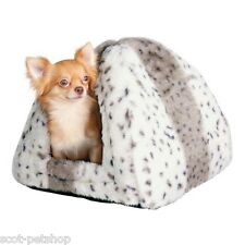 PLUSH LUXURY Cuddly Cave Bed For Cats Kittens Small Dogs Leila 3714