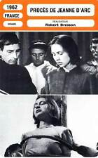 FICHE CINEMA : PROCES DE JEANNE D'ARC (mod.A) Delay,Fourneau,Bresson 1962