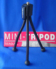 "SEAGULL clip on mini 5"" tripod stand for digital camera flexible 3 legs"