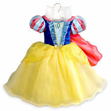 NEW! Disney Store SNOW WHITE Girls COSTUME S 5/6 HALLOWEEN Princess Dress Up