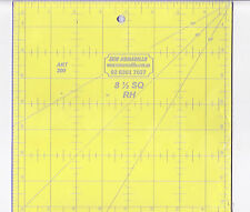"8.5"" x 8.5"" square ruler - for patchwork, crafting - use with rotary cutter"