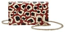 GUCCI Leopard Print Red Leather Chain Crossbody Bag 354697 NWT $1100 +