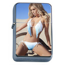 French Pin Up Girls D5 Flip Top Oil Lighter Windproof Resistant Flame