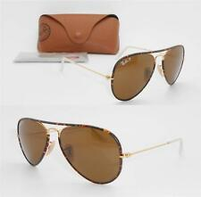 Ray-Ban Aviator Full Color RB 3025JM 001/57 58mm Gold Havana / Brown Polarized