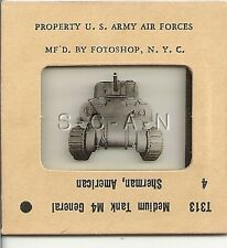 WWII US 35mm Recognition Slide Negative- Medium Tank- M4 Sherman- Front View