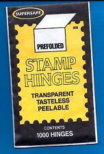 Supersafe Stamp 1000 Hinges GREAT PRICE
