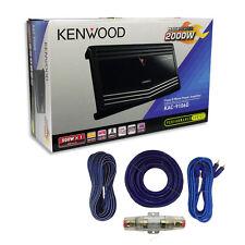 KENWOOD KAC-9106D Mono Subwoofer Amplifier 1000 watts RMS + Amp Install Kit***
