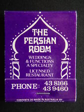 THE PERSIAN ROOM LICENSED RESTAURANT ALL SEASONS MOTOR INN 438166 MATCHBOOK