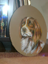 "Antique oil painting ""DOG PORTRAIT""."