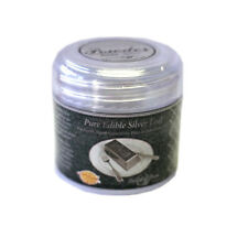 DeiAurum: Pure Edible Silver Leaf Powder, Jar, 0.100g
