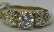 LADIES 14K .25CT. HEART DIAMOND WRAP GUARD RING JACKET FOR SOLITAIRE