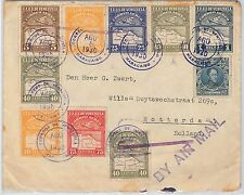 VENEZUELA -  POSTAL HISTORY -  Beautifull  AIRMAIL COVER to THE NETHERLANDS 1930