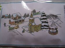 CLING  RUBBER STAMPS WINTER CLASSIC  VINTAGE VILLAGE SNOWY TOWN