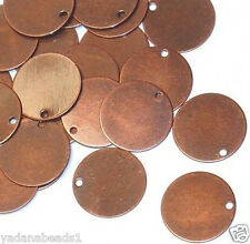 100 pcs of Antiqued Copper Plated Coin Drop 12mm