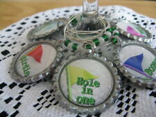"Golf 1"" Bottle Cap Wine Charms ~ **Gift Idea"