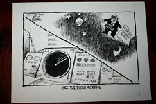 PIERRE SALINGER TWA FLIGHT 800 CONSPIRACY THEORY 1997 KOTERBA POLITICAL CARTOON