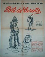 """""""POIL DE CAROTTE"""" Affiche originale entoilée Litho POULBOT 1951 (Jules RENARD)"""