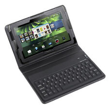 "For Blackberry Playbook 7"" Tablet BK Bluetooth Keyboard Leather Case Cover Pouch"