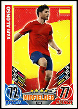Xabi Alonso Spain #166 England 2012 Match Attax TCG Card (C206)