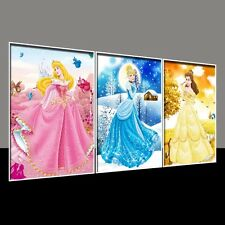 "3D Crystal Diamond Rhinestone Painting By Number Cross Stitch Set ""Princesses"""