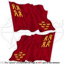 MURCIA REGION Flying Flag SPAIN Región de Murcia Spanish 12cm Stickers Decals x2