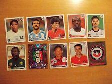 10 Panini-Sammelbilder zur Fußball-WM 2010
