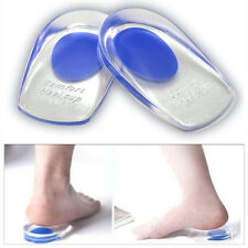 Unisex Silicone Gel Heel Comfort Cup Pad Cushion Insoles Inserts Sole Shoes UK