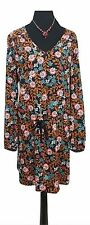 LA REDOUTE Dress Size 20 Black Orange Blue Floral L40in Boho Summer Holiday