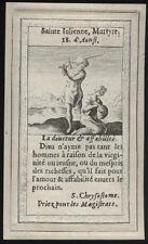 santino incisione 1600 S.GIULIANA DI MIRA M.