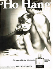 PUBLICITE ADVERTISING 085  1978  L'eau de toilette HO HANG de BALENCIAGA
