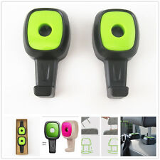 Green Universal Car SUV Seat Headrest Hanger Holder For Bag Purse Cloth Grocery