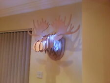 Moose Head with lights 3D Wall Art Trophey Sculpture Others Available