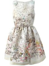 RED VALENTINO MULTICOLORED GARDEN PRINT DRESS IT 40/US 4