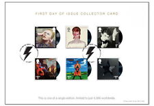 David Bowie Collector Card commemorated on Royal Mail stamps 1st day of issue