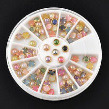Mix Color Wheel Nail Art 3D Crystal Glitter Rhinestone Tips DIY Decoration ZB-A