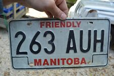 Vintage 1983 Manitoba Canadian 263 AUH License Plate Car Truck Buffalo