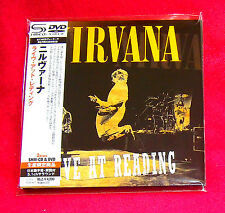NIRVANA LIVE AT READING JAPAN SHM MINI LP CD + DVD UICY-94346 NEW