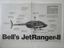 6/1972 PUB BELL HELICOPTER TEXTRON BELL JET RANGER-II ORIGINAL HELICOPTERE AD